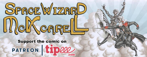 Space Wizard McKcarell, a space fantasy adventure by SuiseiKillfaeh