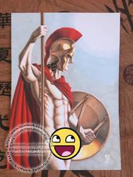 Greek warrior - October 2018 nude illustration by SuiseiKillfaeh