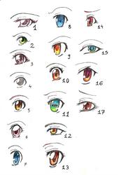 Manga eyes by Etsher