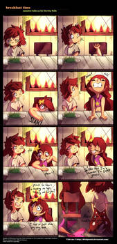 Breakfast Time Monster Falls AU Comic by 8-bitpunch