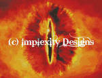 Lidless Eye, Burning xStitch by implexity-designs