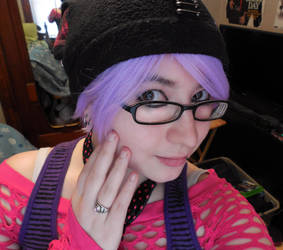 New Short Purple Wig! by Tainted-Kayla