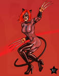 Feral Kat Red by Battlewraith by katfood25