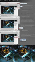 Zoom blur in Photoshop by look