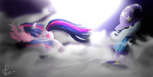 Twilight Sparkle vs The Great and Powerful Trixie by Bronyontheway