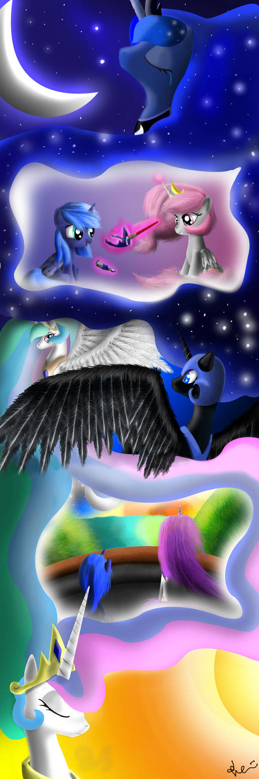 Luna and Celestia's Dream by Bronyontheway