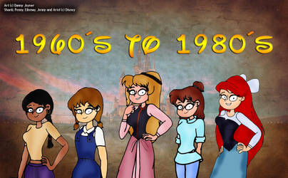 Disney Girls of the 60s and the 80s by RDJ1995