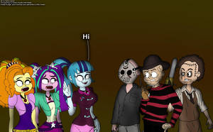 Their Encounter with Freddy, Jason and Leatherface by RDJ1995