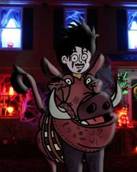 Me as TLKoB's Pumbaa by RDJ1995