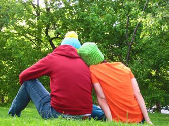 park boys leaning by yourlegsgrow