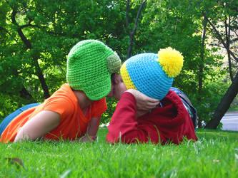 park boys kiss by yourlegsgrow