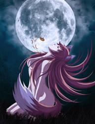 Moon wolf by tonee89