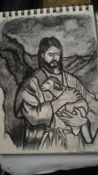 Jesus Christ and her Sheep by ordenboco