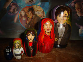 Doctor Who Eleventh Doctor Nesting Dolls by bachel60