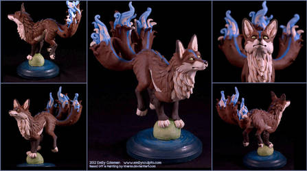 Commission : Ethereal Kitsune by emilySculpts