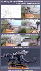 The Making of a Shadow Dragon by emilySculpts