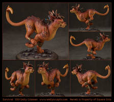 Survival - Nanaki/Red XIII by emilySculpts