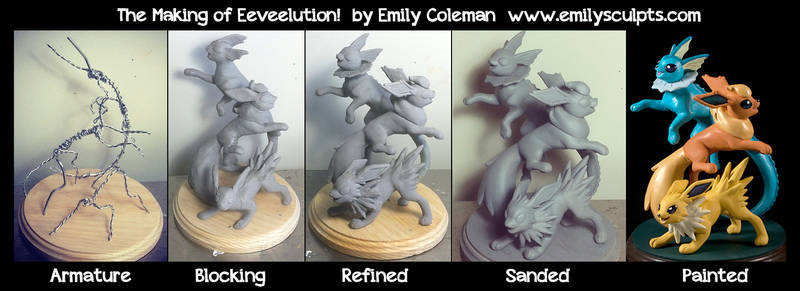 The Making of Eeveelution! by emilySculpts