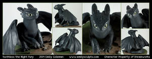 Commission : Toothless by emilySculpts