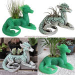 Jade and Desert Mossback Plant Keepers by emilySculpts