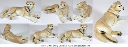 Kiba, Memorial Sculpture by emilySculpts