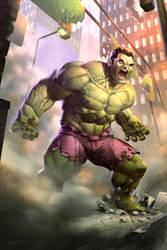 Hulk Smash! fan art by oOfuegoOo
