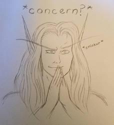 My Concerned Blood Elf Main by PDG-art