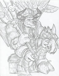 Baine Chieftain of the Tauren by PDG-art