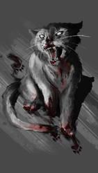 Zombie Cat by GrindcoreDancer