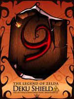 Deku Shield, Legend of Zelda by Alforata