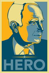 McCain Hero Poster by angelaacevedo