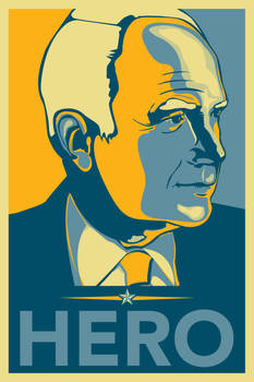 McCain Hero Poster by angelaacevedo