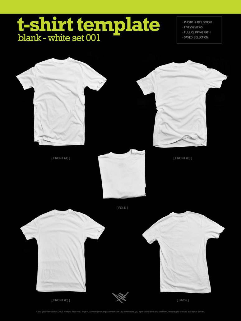 Blank T-Shirt - White 001 by angelaacevedo