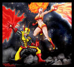 FLAME AND WILDFIRE by Jburnstudios