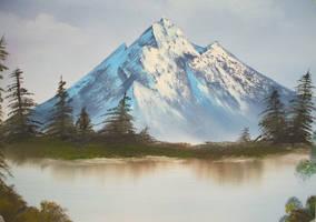 Bob Ross style landscape by LianneC
