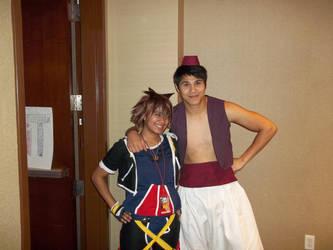 Sora and Aladdin by yukipup