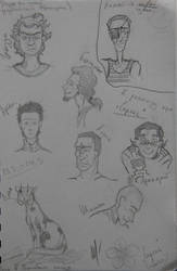 Lilac characters portraits by DarkAngelHidan