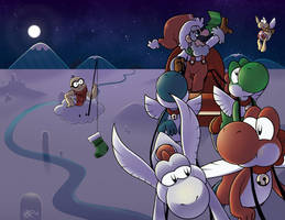 A Merry Mario Christmas (Card) by hevromero