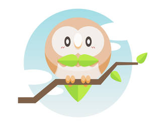 Rowlet Vector by hevromero