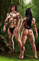 Tarzan--jane by luisrodri