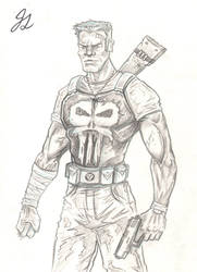 Punisher - Sketch by JesseGiffin