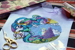 [OPEN] My Little Pony Celestia Cross Stitch by EvanRank