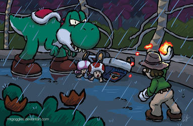 Incident at Isla Yoshi by mrgoggles