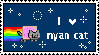 Nyan cat lover stamp by pikachuafwc
