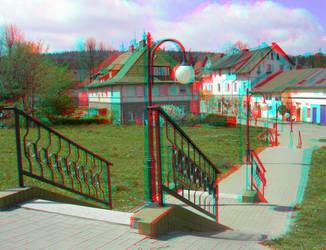 Stairs 3D Anaglyph by yellowishhaze