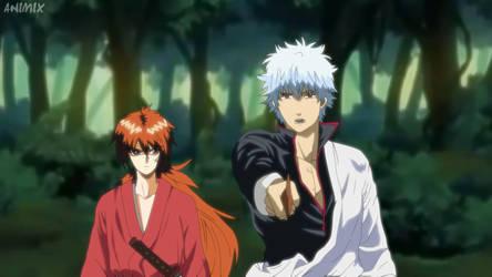 J-Stars Victory Vs - Kenshin and Gintoki [Anime] by JStarsProject