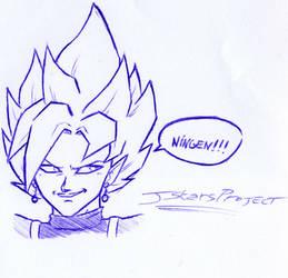 Zamasu Sketch #Ningen by JStarsProject