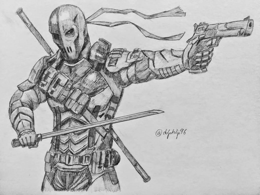 drawing of deathstroke...