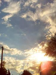 summer sunset by aikosukahi