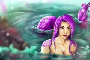 Purple Mermaid by Heilka